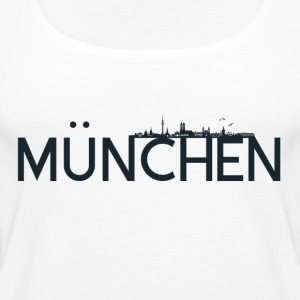 Munich logo with skyline - Women's Premium Tank Top