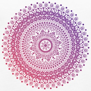 Mandala in red and purple tones, hand drawn - Women's Premium Tank Top