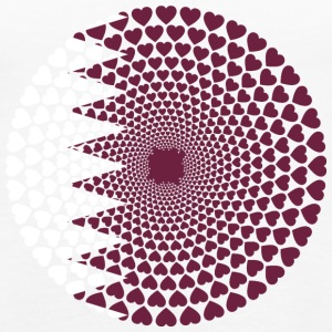 Qatar Qatar قطر HEART LOVE Mandala - Premium singlet for kvinner