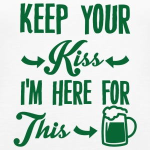 Ireland / St. Patrick's Day: Keep Your Kiss. ik ben - Vrouwen Premium tank top