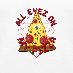 ALL EYEZ ON MY PIZZA Illuminati Italy Fun T-Shirt - Women's Premium Tank Top