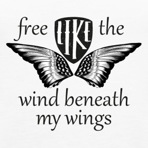 Free like the wind beneath my wings - Women's Premium Tank Top
