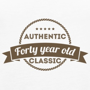 40th Birthday: Authentic - Forty Year Old - Class - Women's Premium Tank Top