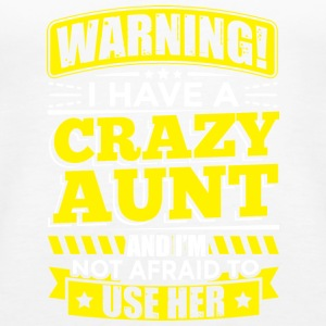 AUNT WARNING CRAZY AUNT - Women's Premium Tank Top