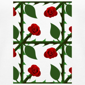 Red Rose Pattern - Women's Premium Tank Top