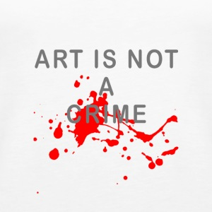 Art is not a crime (blood) - Women's Premium Tank Top