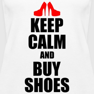keep calm and buy shoes - Women's Premium Tank Top
