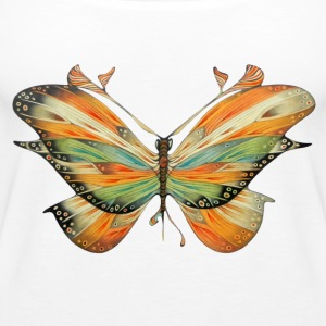 Big butterfly colored - Women's Premium Tank Top