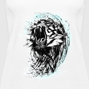 tiger löwe wild biss cool blut king chef strange L - Frauen Premium Tank Top
