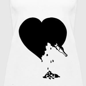 destroyed heart - Women's Premium Tank Top