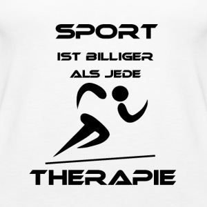 Sport is cheaper than any therapy - Women's Premium Tank Top