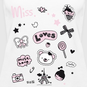 badges_rosa Patch Jente Miss lille prinsessen siden - Premium singlet for kvinner