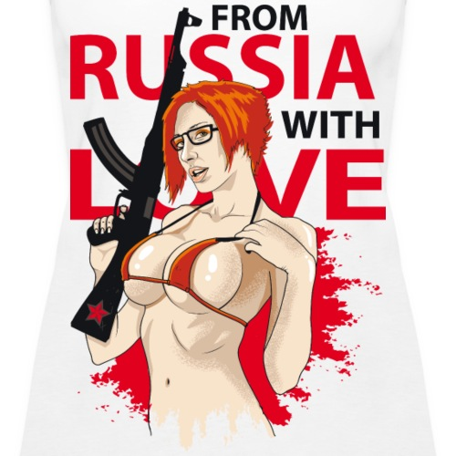 From Russia with love (für helle Shirts) - Frauen Premium Tank Top