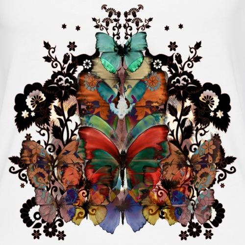 Lace and Butterflies - Canotta premium da donna