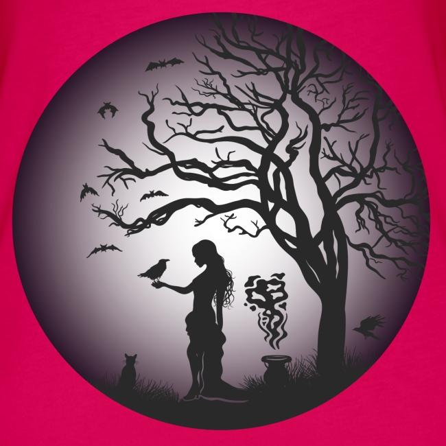 Halloween Silhouette Purp