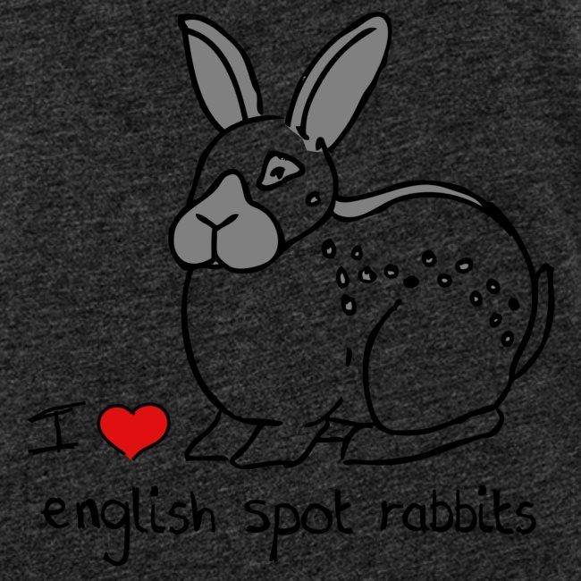 I Love English Spot Rabbits