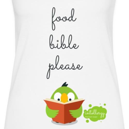 Food Bible - Women's Premium Tank Top