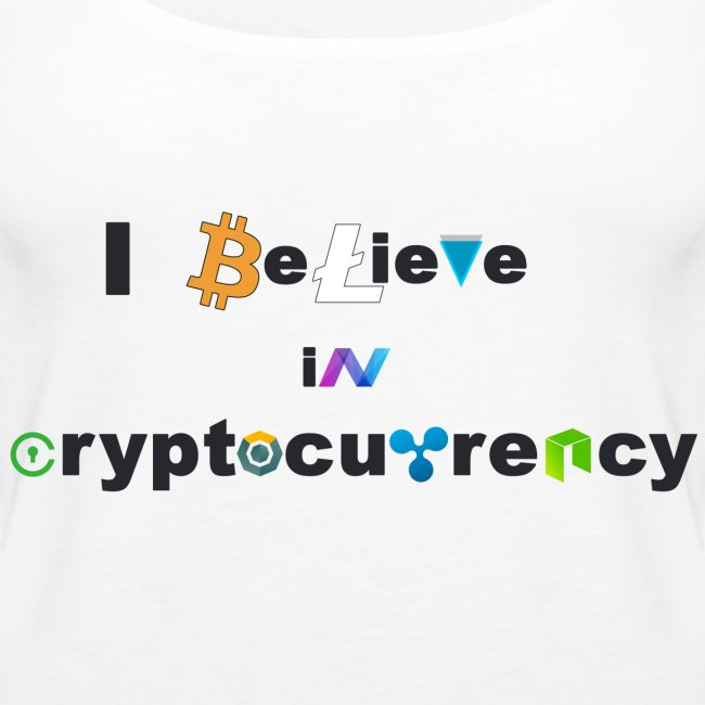 I believe in Cryptocurrency Stofftasche Kyptowähr