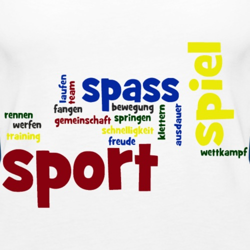 Wordle_Sport_01 - Frauen Premium Tank Top