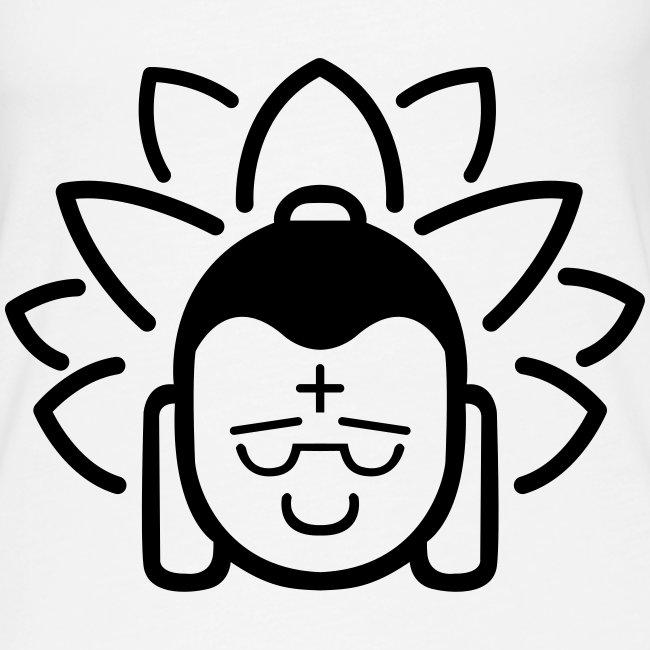 Boeddha hoofd blad