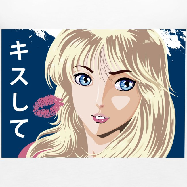 manga girl kiss