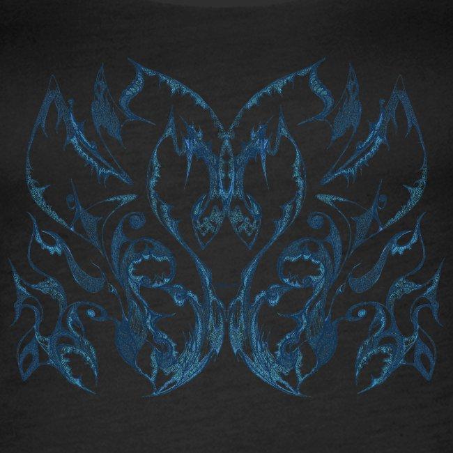 Blue ink lace