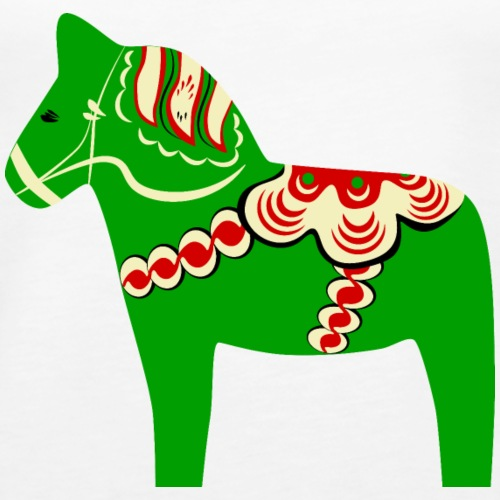 Grön dalahäst - Premiumtanktopp dam