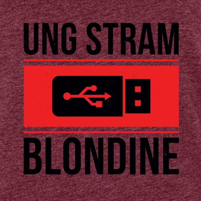 Ung Stram Blondine - Sort