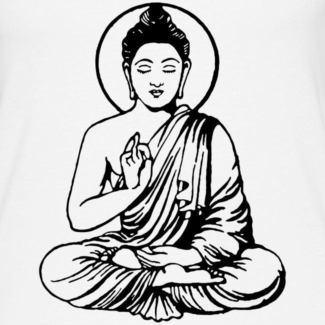 Buddha-Vektor-Outline