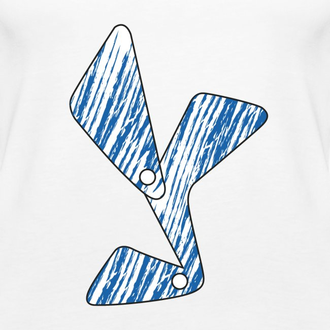 lettera Y blu