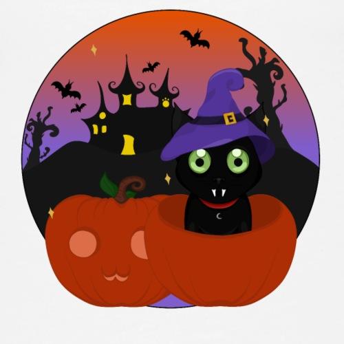 Halloween & the cat - Débardeur Premium Femme
