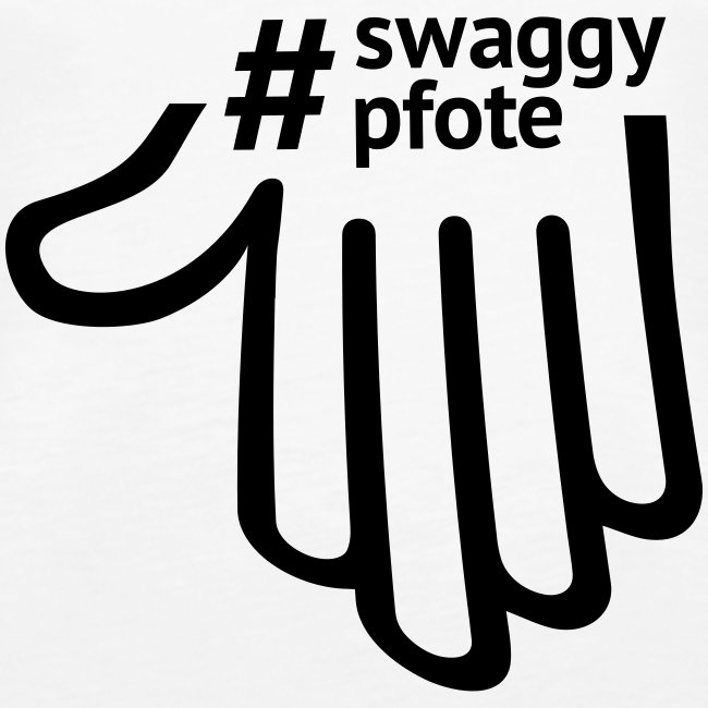 #swaggypfote T-Shirt (Schwarz)