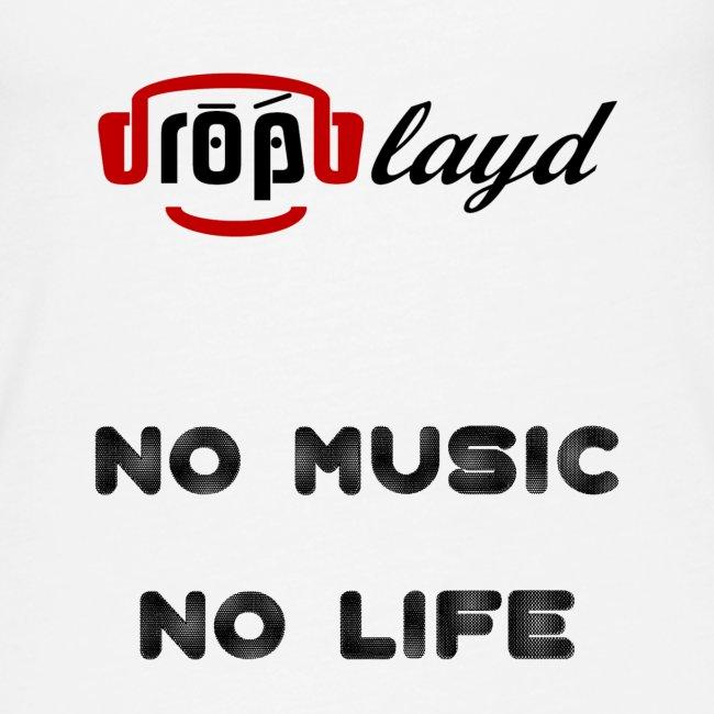 dropblayd Merch - No Music No Life