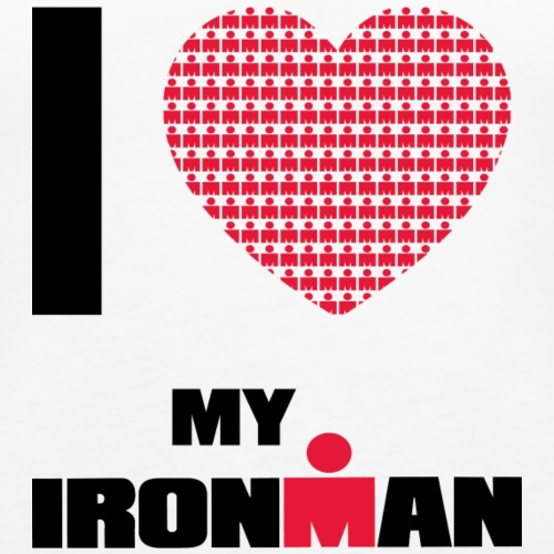 i heart my ironman redblack - Women's Premium Tank Top
