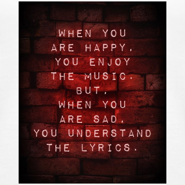 SAD SONGS red