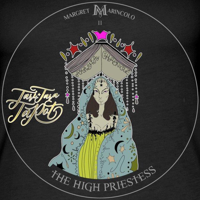 The HIGH PRIESTESS   Hohepriesterin Tarot Karte