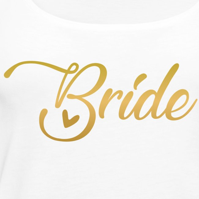 Bride - yellow lettering with a decor. heart