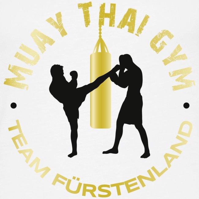Logo MUAY THAI GYM Team Fuerstenland gold schwarz