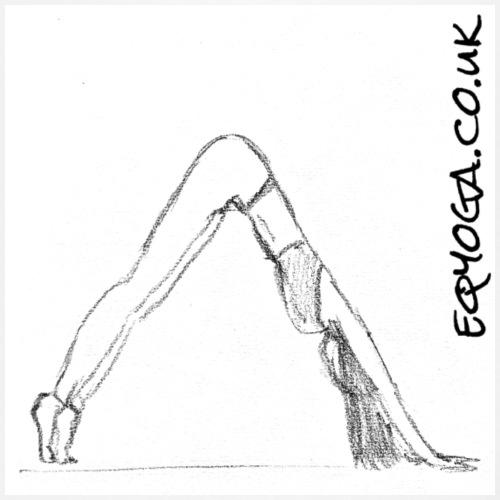 Downward Dog Yoga Sketch - Women's Premium Tank Top