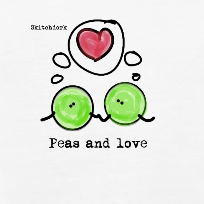 Peas and love with logo Transparent