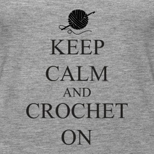Keep Calm Crochet on - Women's Premium Tank Top