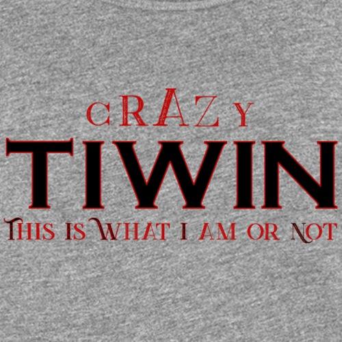 crazy TIWIN rouge - Débardeur Premium Femme