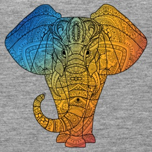 Elephant in rainbow color - Women's Premium Tank Top