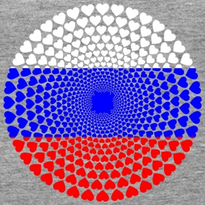 Russia Russia Россия Love HEART Mandala - Women's Premium Tank Top