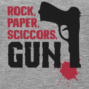 Amazing rock paper scissors gun - Women's Premium Tank Top