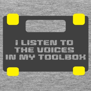 Mechanic: I LIsten To The Voices In My Toolbox. - Women's Premium Tank Top