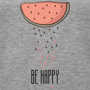 BE HAPPY - Frauen Premium Tank Top