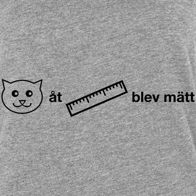 Katt åt linjal