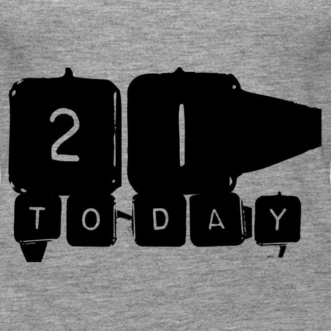 21 Today T-shirt design black