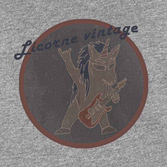 Licorne guitare metal Vintage fond gris